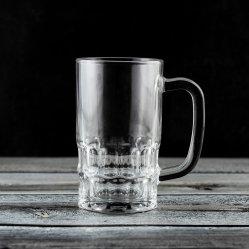 300ml de hoge Witte Mok van de Thee van het Glaswerk met de Mok van het Bier van het Handvat (P12875)