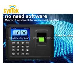 Le logiciel libre de gros d'origine du système de pointage biométrique Prix de la machine sans logiciel