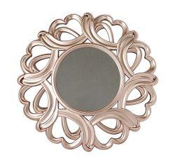 16-дюймовый раунда золотой индийском стиле дома декор зеркала Настенные часы