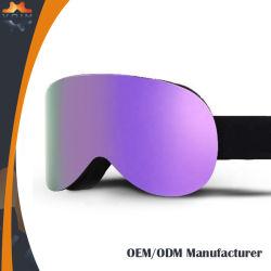 La conception de châssis TPU souple respirant Ski Goggle sangles Anti-Slide des lunettes de protection pour la vente