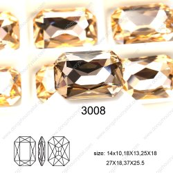 Le design de mode Crystal Stone pour bijoux de fantaisie de l'Octogone Commerce de gros