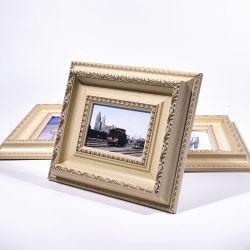 Commerce de gros stand PS Cadre Photo murales en plastique / Photo Photo Frame Molding PS pour la maison de châssis