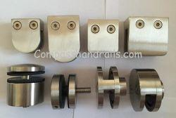OEM Custom accesorios de acero inoxidable Barra de soporte de abrazadera de vidrio de cierre de vidrio pasamanos pasamanos//Barandilla escalera