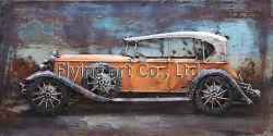 La Decoración de pared de metal 3D Pintura de aceite de coches