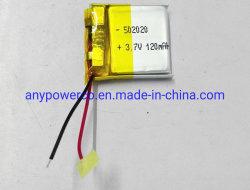 De petite taille personnalisée rechargeable au lithium-ion polymère 502020 3,7 V 120mAh Li Ion Batterie Lipo Soft Pack pour Smart Watch