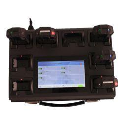 Win7 8 ports de station d'accueil avec écran tactile pour corps de police de caméras usés le téléchargement de données
