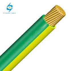 150mm PVC coberto de cobre flexível de ligação à terra do cabo do fio verde/amarela