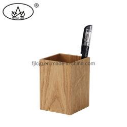 Retângulo caneta de madeira caixa Escritório Lápis Home Desk Willow Escola titular de madeira