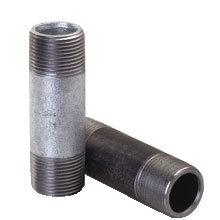 Alta calidad de acero galvanizado y acero negro Rosca Macho BSPT boquilla de tubo digestivo