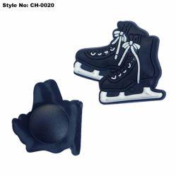 Moderno diseño en 3D de parches de goma duradera Skates zapatos Clog encantos