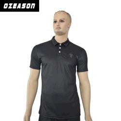2019最も新しく明白で黒い綿のゴルフポロシャツの卸売(P009)