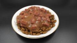 Sopa de carne en conserva el sabor de proteínas de alto alimento para mascotas