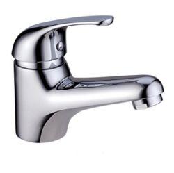 Filigrane thermostatique Corps en laiton ouvragé poignée unique Salle de Bain lavabo Mitigeur appuyez sur