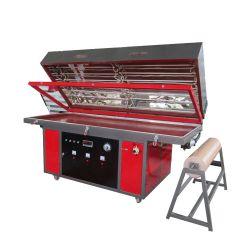 La puerta de PVC automático de chapa de madera haciendo Línea Caliente prensa de membrana de vacío vacío de la máquina de prensa de calor para el armario de cocina