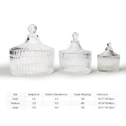 Плоская форма пищевой категории стекла конфеты продукты овощи стеклянный кувшин для хранения