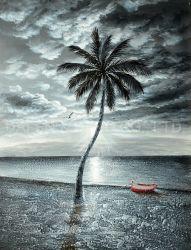 Handgemachte Ölgemälde-Wand-dekorative Kunst des Landschaftsneue Entwurfs-(DSC_4736)
