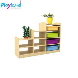 Mobiliário para bebé de desenhos animados de boa qualidade do registro de madeira Armário de armazenamento para venda