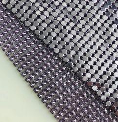 Soft metálico de aluminio de la moda de malla metálica de la cadena de ropa de tejido de correo