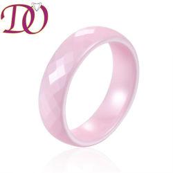 새로운 도착 분홍색 세라믹 반지 분홍색 교전 반지 결혼 반지