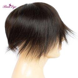 De nouvelles matières perruque couleur noir 100 % perruque de cheveux humains Homme Hommes perruque Toupee HD