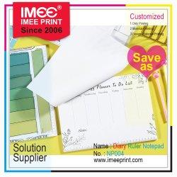 Imeeの印刷のブランドの気力のロゴのペーパー印刷のカスタム定規日記の立案者の議題の粘着性があるか非粘着性があるノート