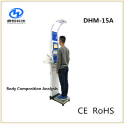 Dhm-15uma massa de gordura de ultra-sons, composição corporal IMC Escala de altura e peso