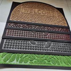Caoutchouc Doormats gaufré de couleur unie surface colorée et de surface