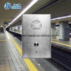 Aço inoxidável IP65 Intercom, Intercomunicador públicas de emergência para Interior/Exterior