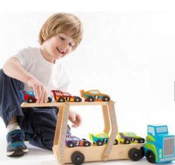 Los niños Don carrera de coches de madera soporte de empujar a lo largo de vehículo de juguete para niños