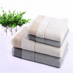 Stley simples de fibra de bambu Toalha de banho Dobby Toalha de cetim Jacquard Agente MARCA OEM pode ser processado