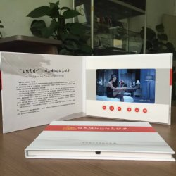 Fashion Business Invitation Video Brochure Card Lcd Video Gift Cards Digital Tft Scherm Video Greeting
