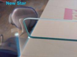 Caliente de fábrica esmerilado curvo templado laminado decorativo de Arte de flotación de la hoja de cristal templado