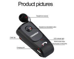 Auriculares écouteurs Bluetooth sans fil conducteur dans les appels de l'oreille clip d'usure de l'écouteur rappelle de vibrations