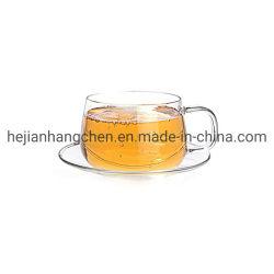 Vidro resistente ao calor Flower Tea Round pega divertida aquecida personalizada Conjunto de preparação de copo de copo