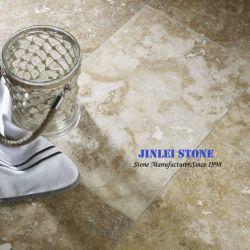 Натуральный камень бежевый камни травертина мраморная ванная комната и настенные плитки для внутренней и внешней
