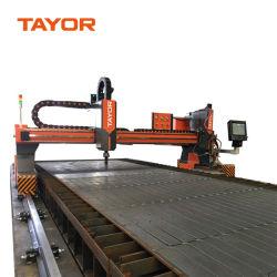 Gantry Pesado verdadeiro buraco Plasma CNC e Oxi máquina de corte de combustível de Tayor