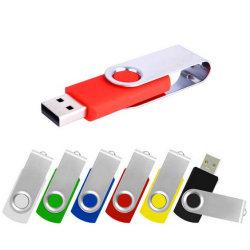 Image de marque personnalisée Flash USB, USB pivotant en métal pour la promotion