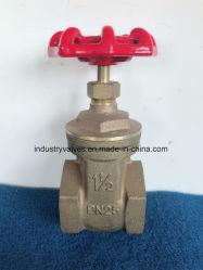 Wasser Bronze Pn25 NPT / BSPT / BSPP Gewindeschieber Ventil
