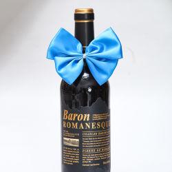 Fita de Natal 100% poliéster decoração azul de proa da fita de embalagem de garrafas de vinho /Festas de Casamento