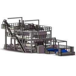 Haz doble completamente automático PP Spunbond Medical Tejido sin tejer con máquina de fabricación de textiles a bajo precio