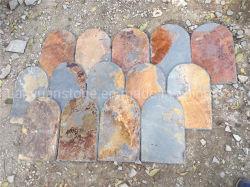 Mattonelle di tetto multicolori arrugginite delle mattonelle dell'ardesia del tetto di ardesia
