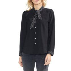 Реактивной тяги к шее сшитое моды одежды блуза 2021