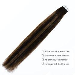Klebstreifen-Haar-Extensions-reales Menschenhaar-nahtloses Haut-einschlagband-Haar-bunte feste Knickenten-Farbe 2.5gr/PC