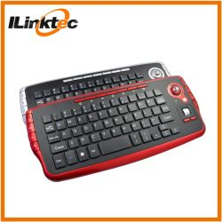 Mini-teclado com trackball sem fio com a Roda do Mouse Trackball