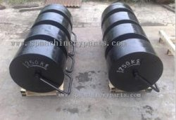 싼 가격 도매 무쇠 롤러는 중국에서 강철 드는 손잡이를 가진 500kg를 무겁게 한다