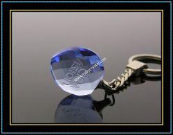 Souvenir Gift (kc09)のための青いHeart Crystal Keychain