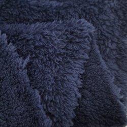 Weiches Polyester-Wollenfaux-Pelz-Doppeltes 100% versah Sherpa Vlies-strickendes Gewebe für Futter-Gewebe und Oberes mit Seiten