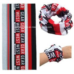 Diseño de logotipo personalizado de promoción de la impresión de sublimación bufanda perfecta multifuncional