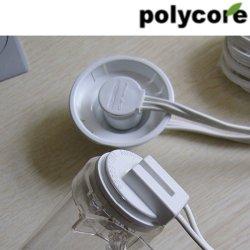 Conduta de tampas de plástico transparente