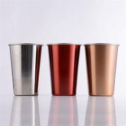 500ml 304ステンレス鋼ビールコップの単層のコップの飲むコップのミルクのコップ